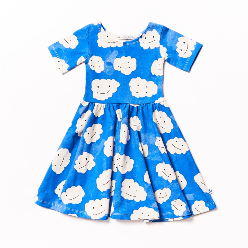 Ballerina Dress Halfsleeve _Blue