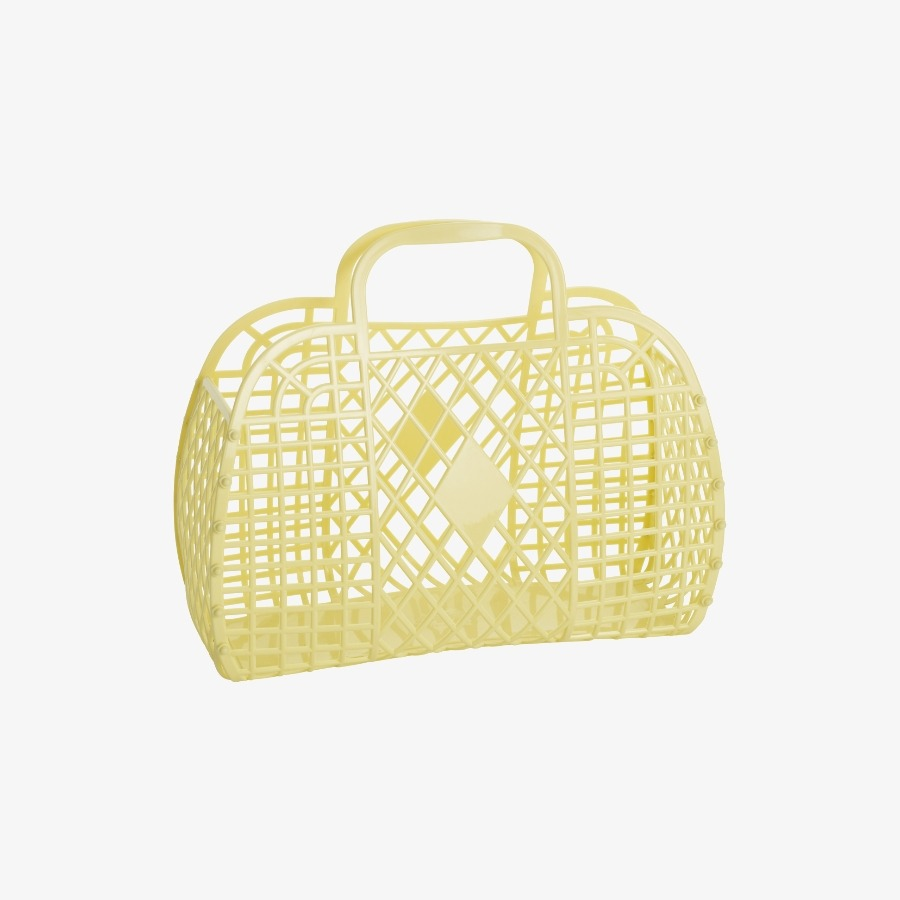 캐리마켓 -  Retro Basket Large YELLOW