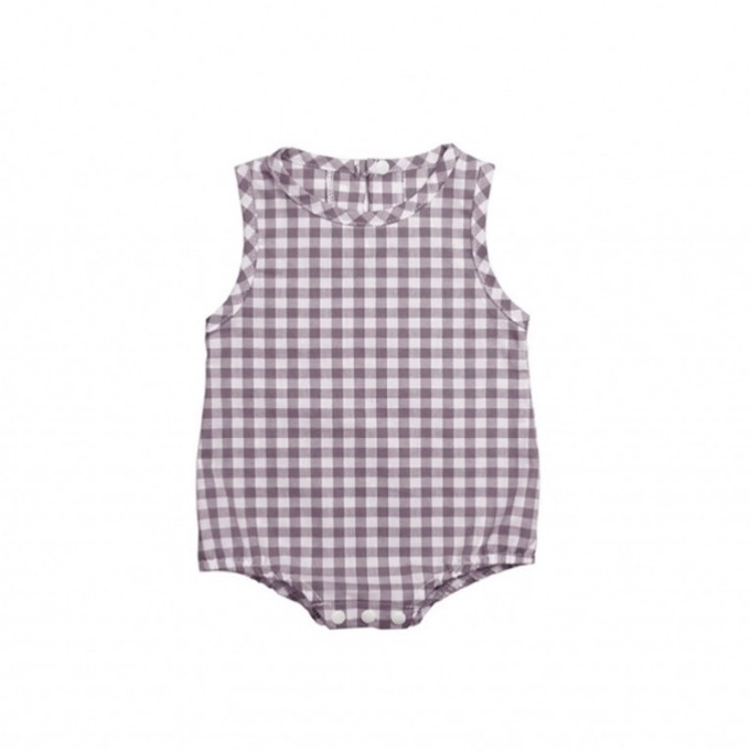 Gingham body suit  (Purple)