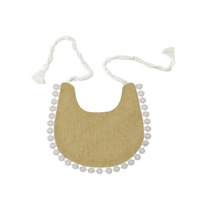 Lace bib (Yellow)