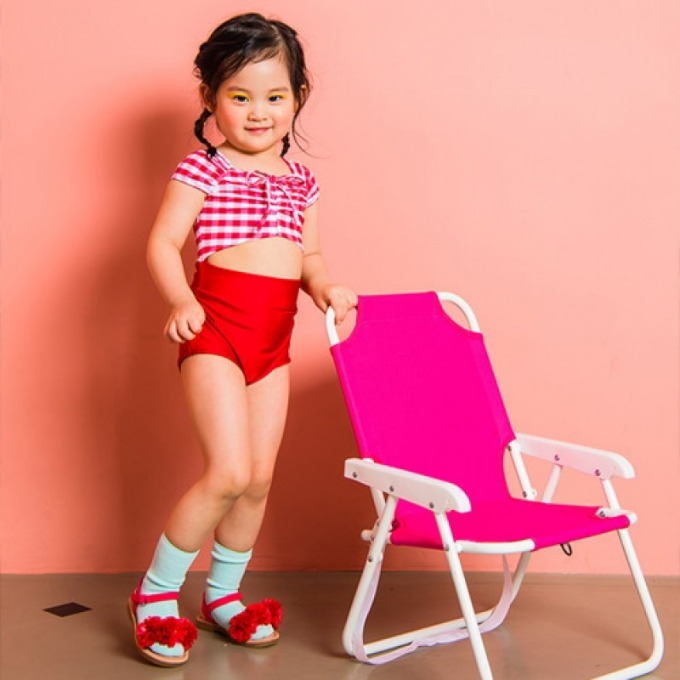 RED CHECK SWIMSUIT (FOR GIRLS)