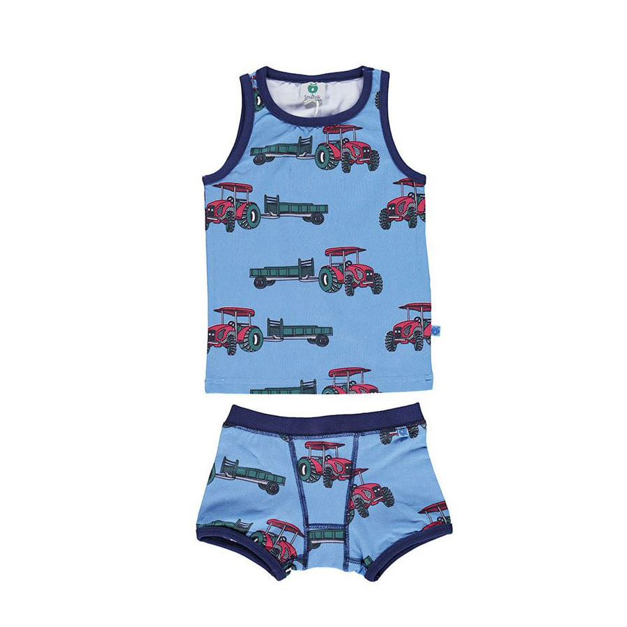 Underwear with tractorwinter blue