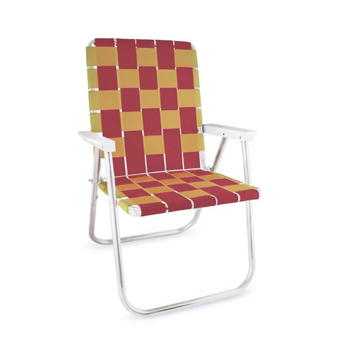 Burgundy & Gold Classic Chair