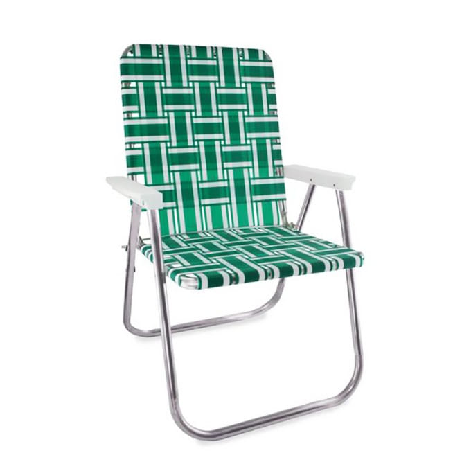 Green and White Stripe Classic Chair
