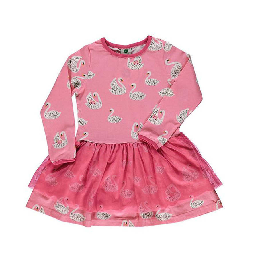 Dress with swansSea Pink