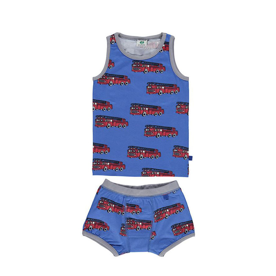 Underwear with fire truckblue lolite