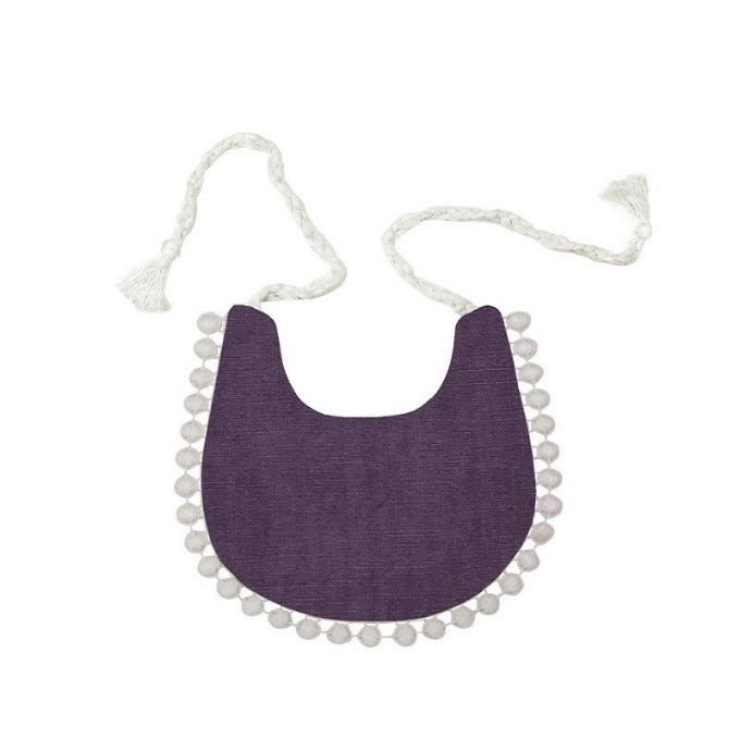 Lace bib (Purple)
