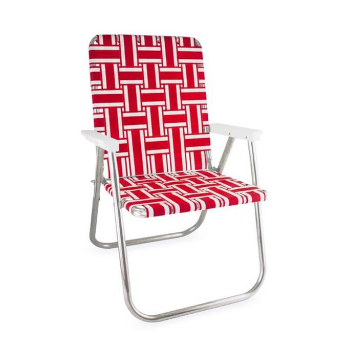 Red and White Stripe Classic Chair