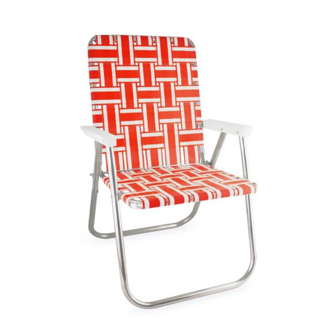 Orange and White Stripe Classic Chair