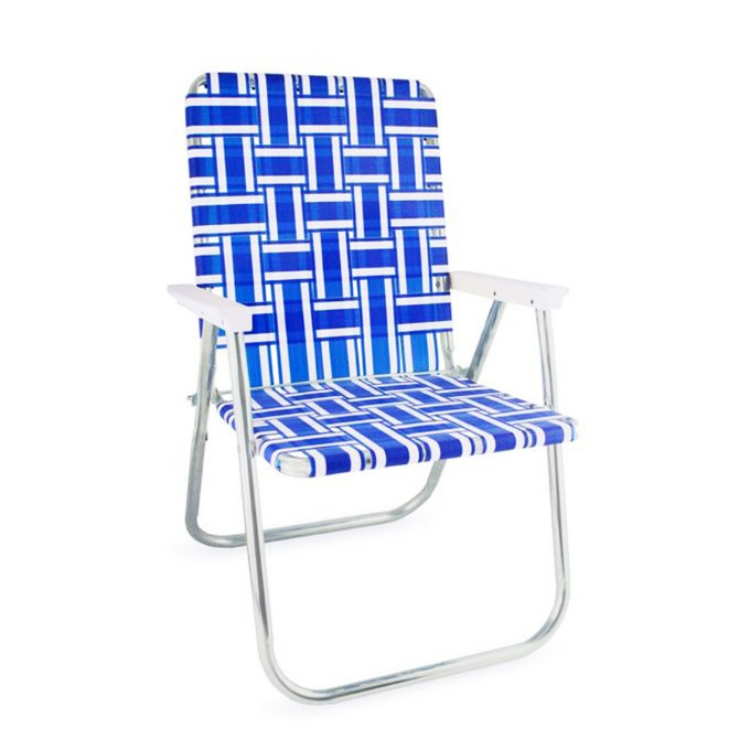 Blue and White Stripe Classic Chair