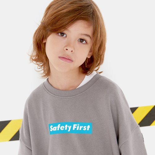 SAFETY FIRST SWEAT SHIRT-GREY