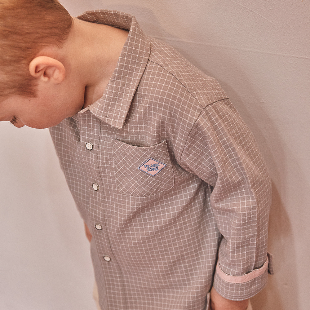 PS Point Check Shirt_Gray