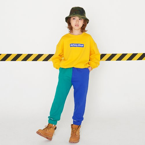 SAFETY FIRST SWEAT PANTS-GREEN&BLUE