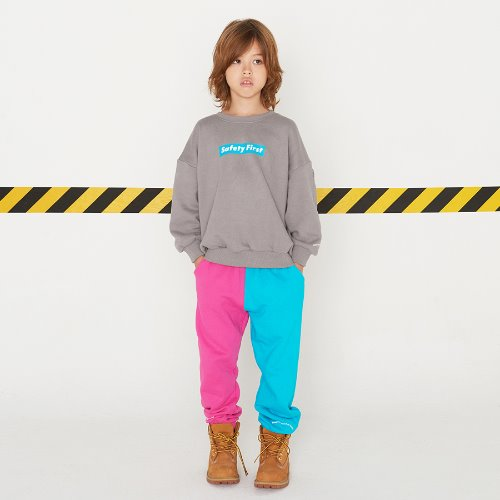 SAFETY FIRST SWEAT PANTS-PINK&MINT