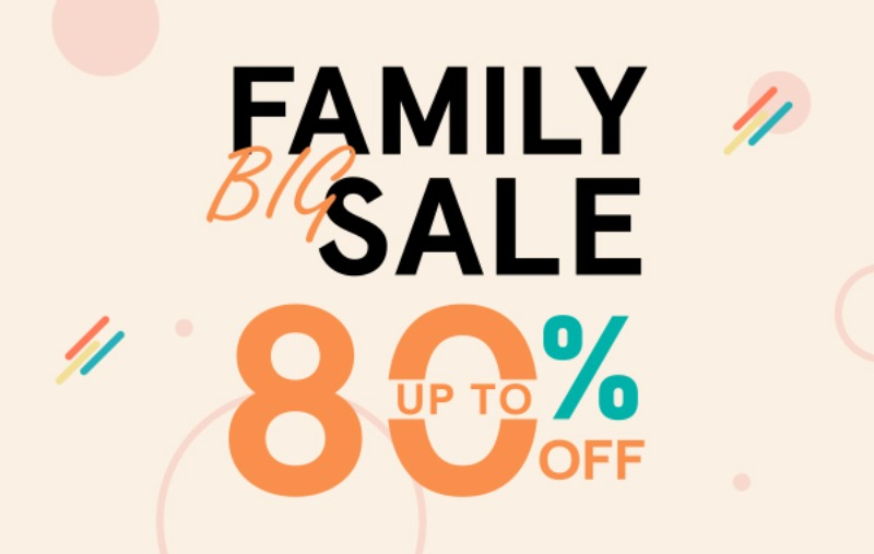 FAMILY BIG SALE MAX 80% OFF