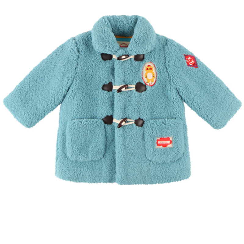 Bear baby fur duffle coat