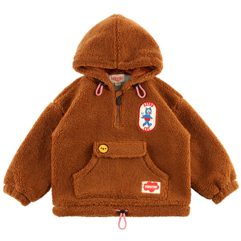 Bonjour dumble fur hooded anorak