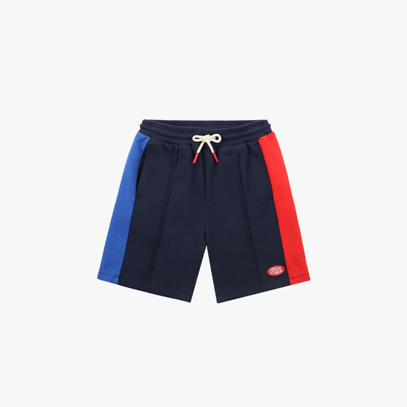 Icebiscuit logo patch color block shorts