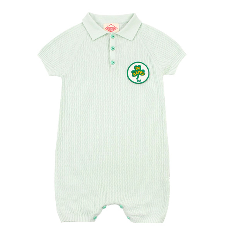 Clover baby mint sweater overall