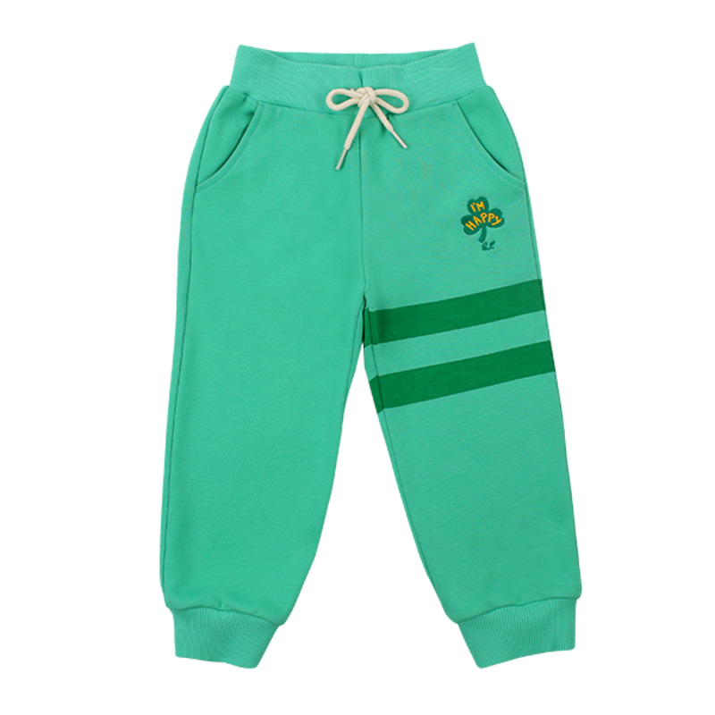 Clover embroidery sweat pants