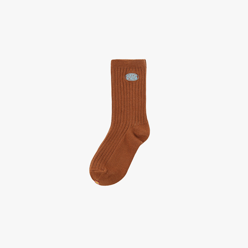 Icebiscuit symbol logo ribbed socks