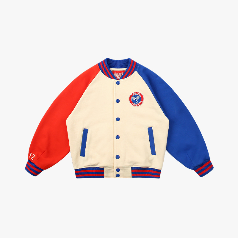 Icebiscuit tennis emblem cotton baseball jacket