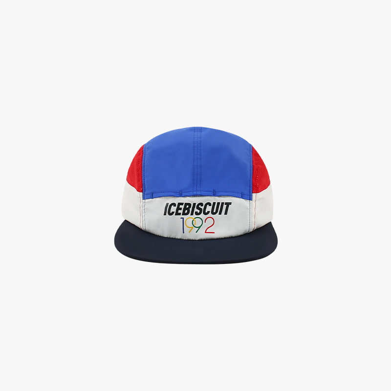1992 Icebiscuit color block mesh camp cap