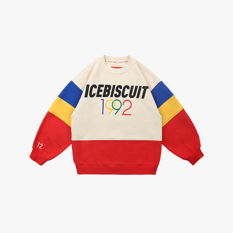 1992 Icebiscuit color block sweatshirt