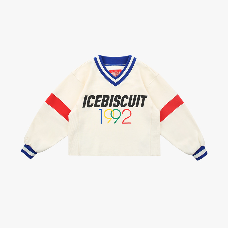 1992 Icebiscuit v-neck cropped sweatshirts