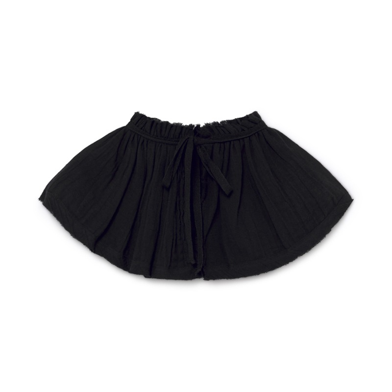 Musslin Ruffle Neck (black)