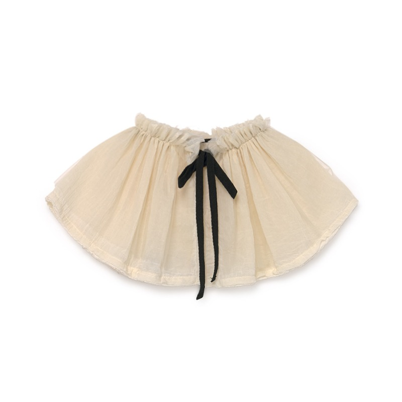 Musslin Ruffle Neck (cream)
