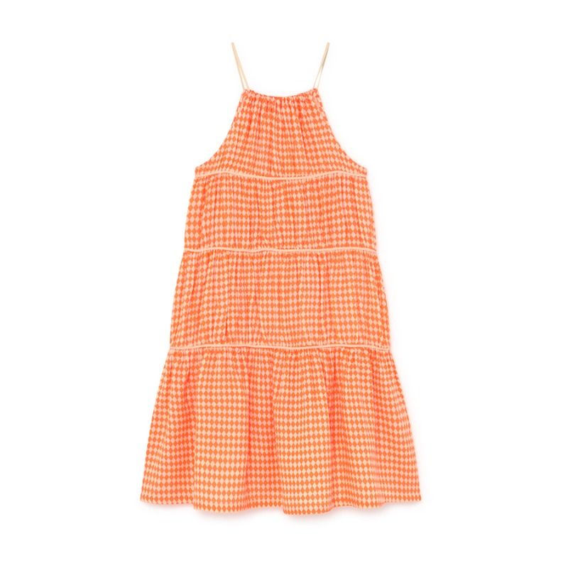 Tiny Diamond Sundress (neon orange)