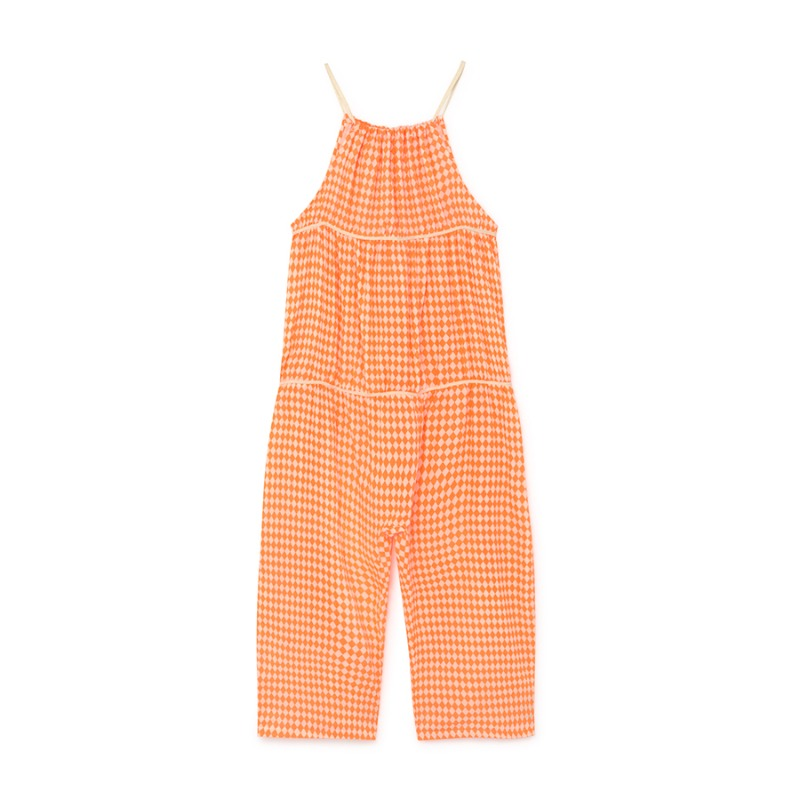 Tiny Diamond Jumpsuit (neon orange)