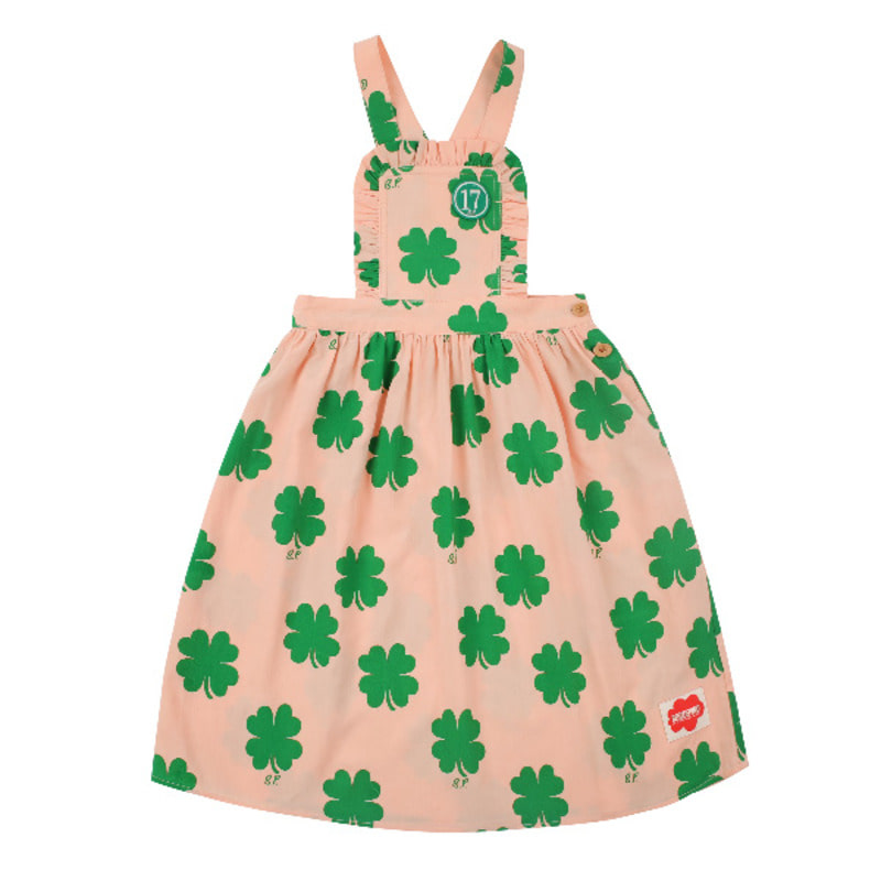 Multi clover suspender dress