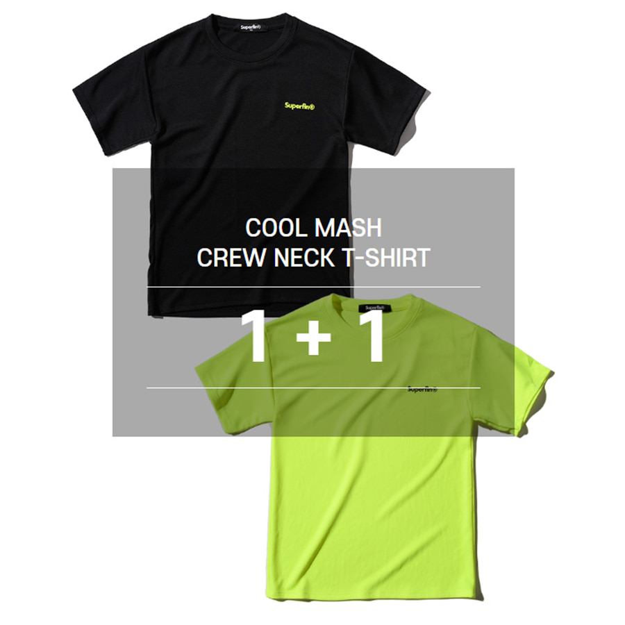 COOL MASH CREW NECK T-SHIRT(1+1)