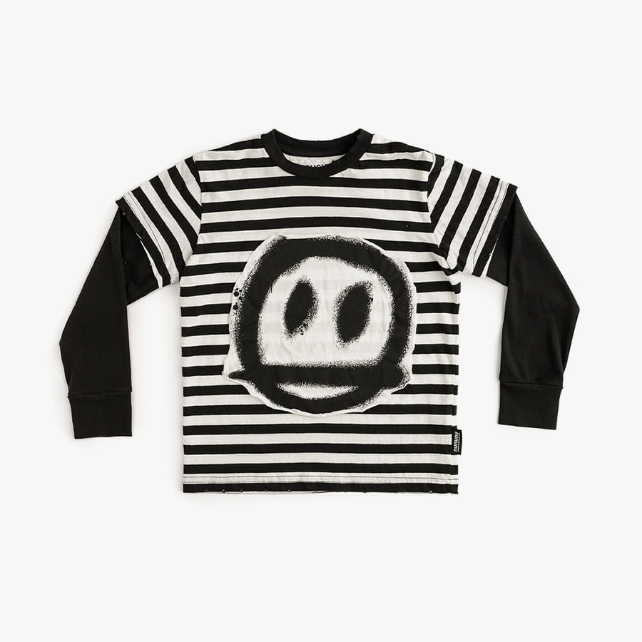 Sprayed smile striped t-shirt (baby)