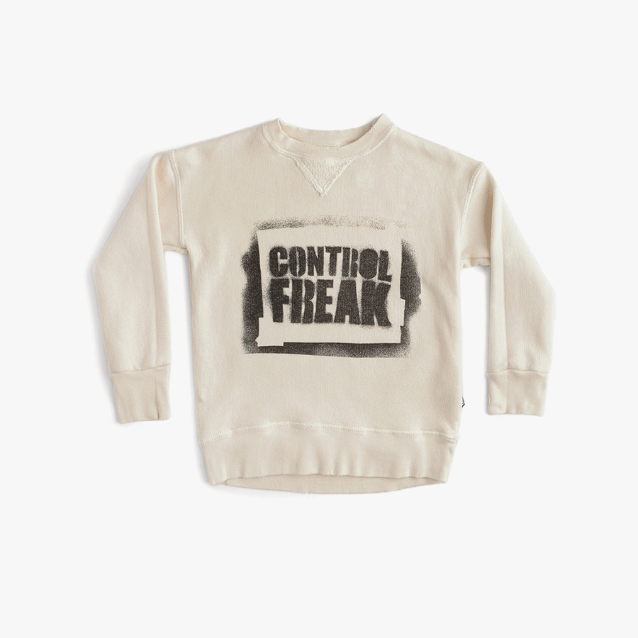 Sprayed control freak sweatshirt (baby)
