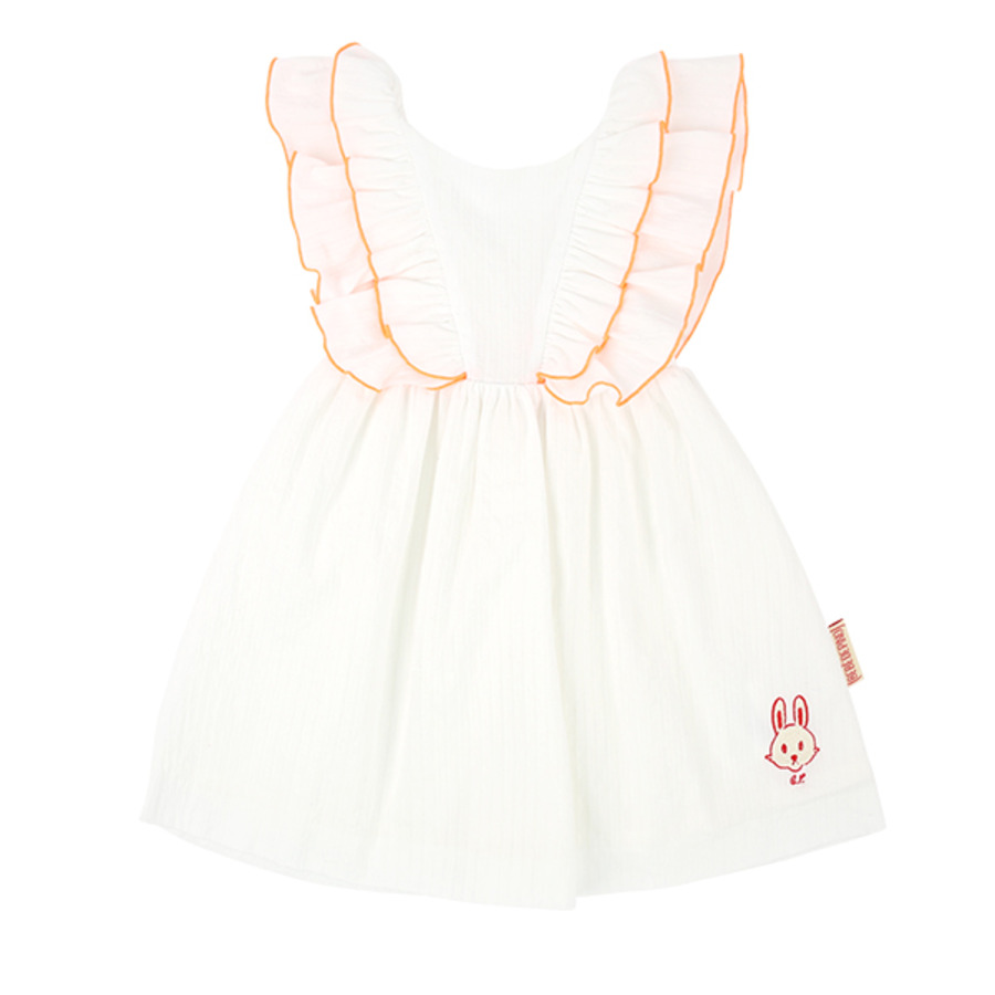 Bunny baby ruffle dress set