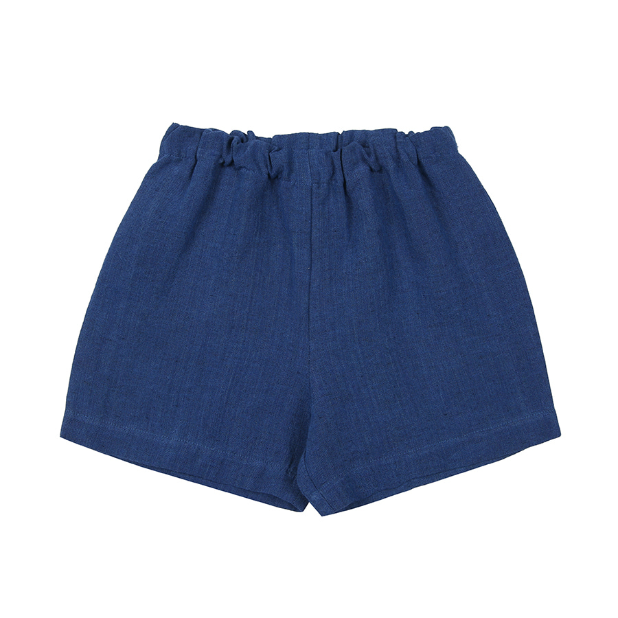 LINEN COTTON BASIC SHORTS