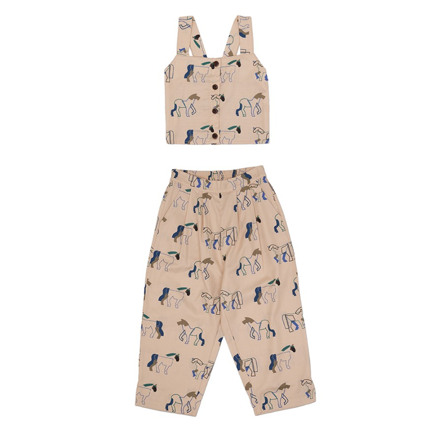 Double Horse Crop Set (Cream)