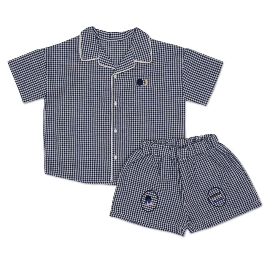 Moon Line Shirt Set (navy)