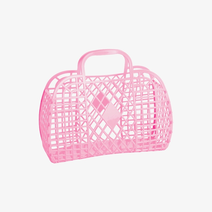 캐리마켓 -  Retro Basket Large BUBBLEGUM PINK