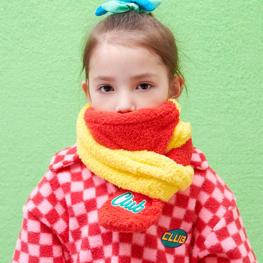 MIXED TEDDY MUFFLER _RED