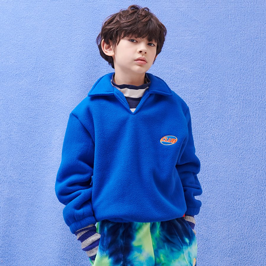 CLUB COLLAR SWEAT SHIRT_BLUE