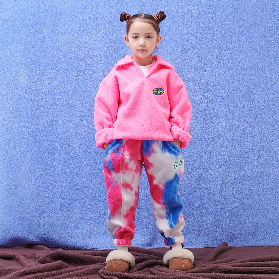 TIE DYE FLEECE SWEAT PANTS_PINK