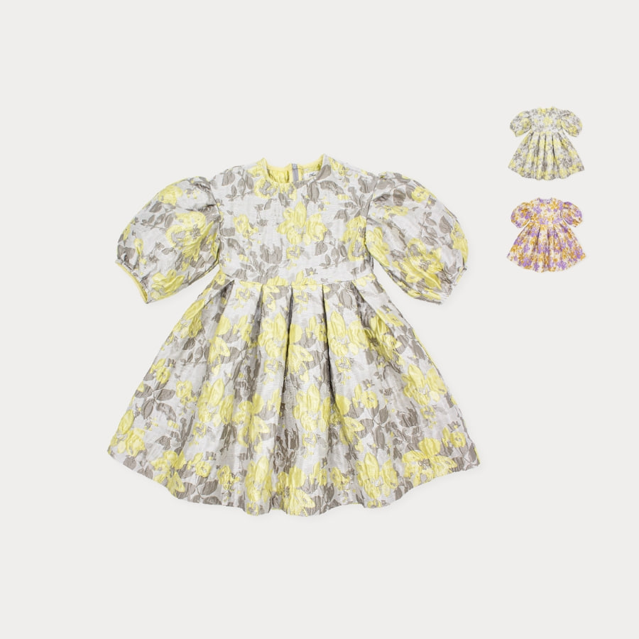 캐리마켓 -  Charmant jacquard dress 4Y-8Y