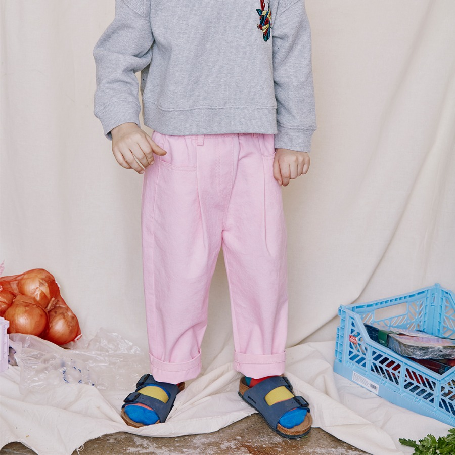 캐리마켓 -  School Day Cotton Pants (Pink)