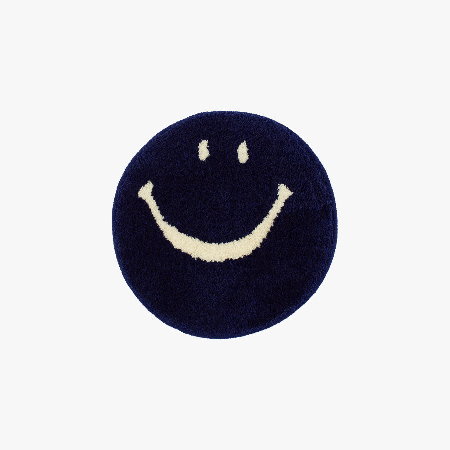 캐리마켓 -  Vintage smile Chair rug mat_(navy)