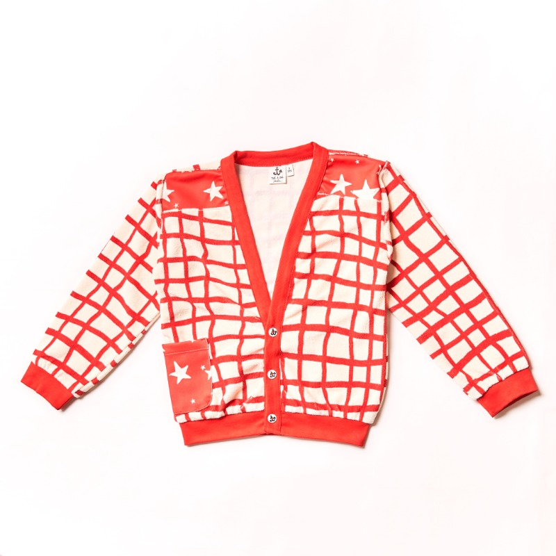 Terry Cardigan _Red