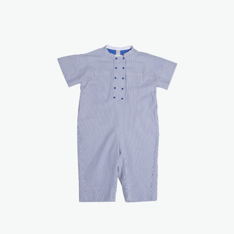 Double breasted jodhpur romper (Blue)